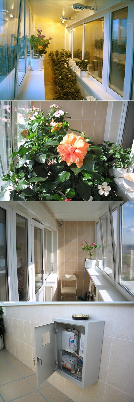 Обустройство лоджии (балкона) под зимний сад (продолжение).